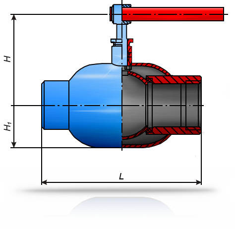 Кран шаровой 10нж10п1