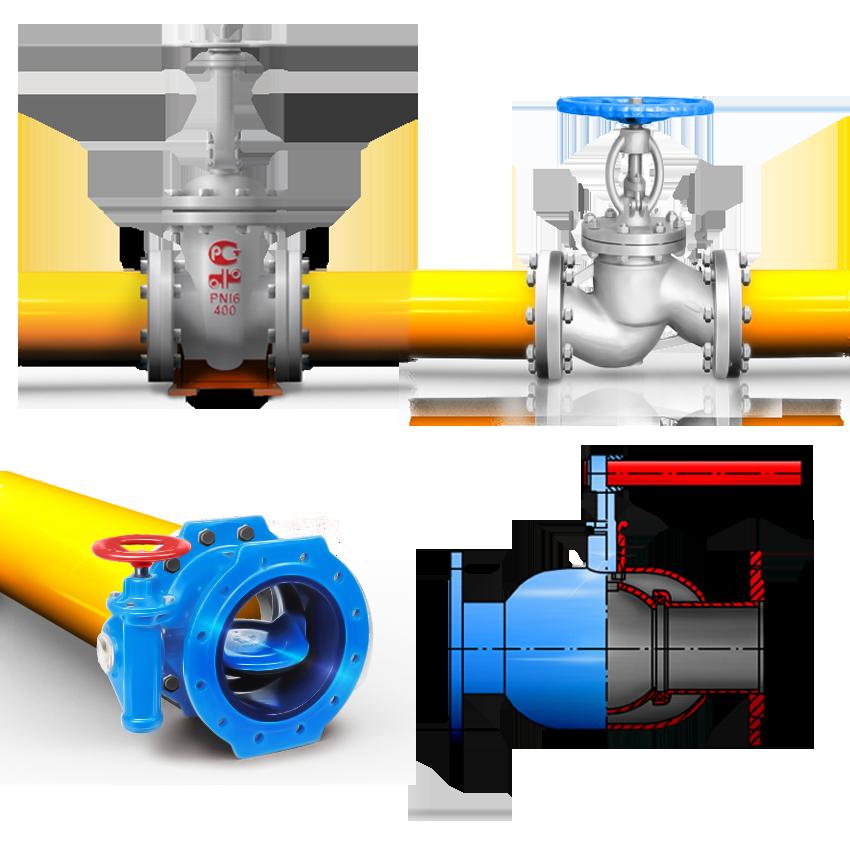 Размещение арматуры на газопроводах